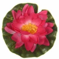 Dekors Ūdensroze rozā 15cm