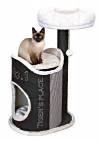 Kat's home / Susana scratching post, 90 cm, black/light grey/grey
