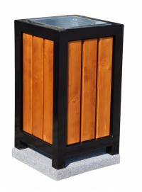 Concrete bin with wooden elements 70 L