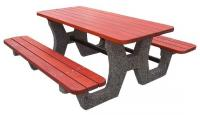 Concrete picnic tables 200x200
