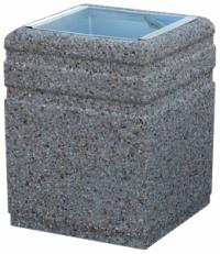 Concrete trash can 40L