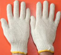 Knitted gloves, CO / PES