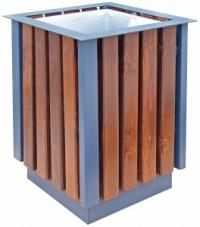 Wooden decorated bin