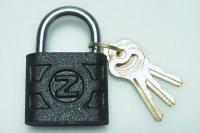 Solid steel padlock Set contains 3 keys