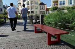 "RIGA BENCH - ALL WOOD - WOOD FINISH ""MAHOGANY FINISH"" 2000 mm"