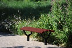 "OSLO BENCH - WOOD & STEEL - WOOD FINISH ""MAHOGANY FINISH"" 1500 mm"