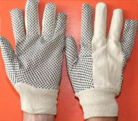 Cotton textile gloves with PVC anti-slip dots