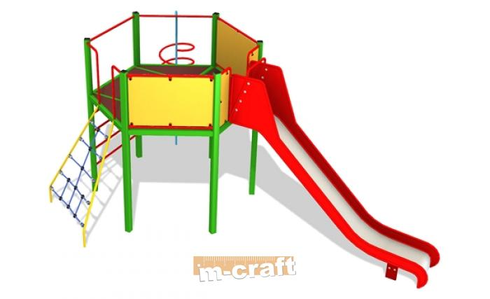 Polonez Playground Set with Tower, In-Ground Mount