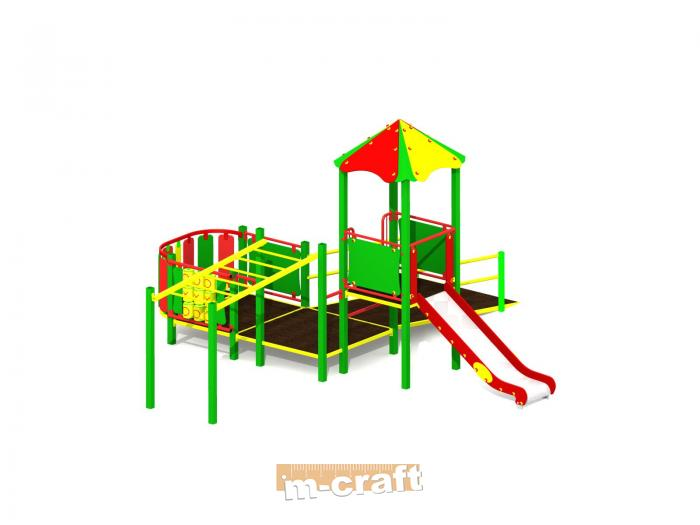 Wheelchair Accessible Standard Playground Set no 1., In-Ground Mount, Hot Dip Galvanized & Paint