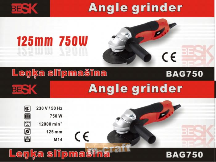 BESK 4S angle grinder 125 mm 750W