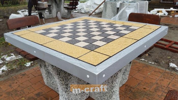 Concrete Chess Table 200x200 · Concrete Chess Table 200x200
