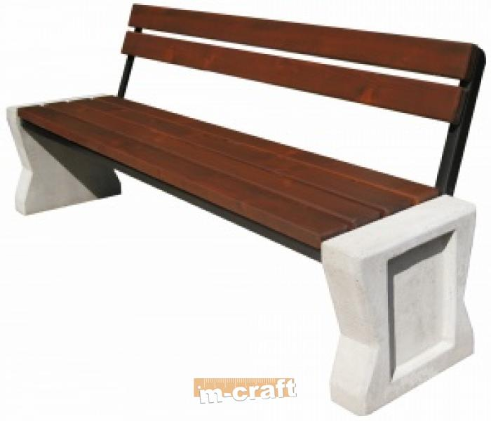 Concrete Bench 205x65x180