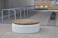 Concrete bench 130x46