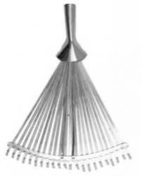 Metal rake without a handle, 22 teeth