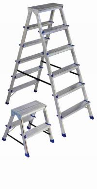 Double sided aluminium step ladder (max 150 kg)