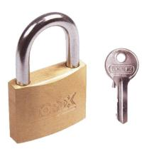 Solid brass padlock Set contains 3 keys