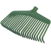 Plastic rake for leaves, 23-teeth