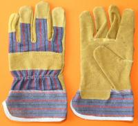 Working gloves; leather