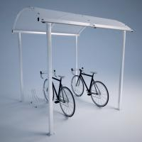 Bicycle Shelter with the Bicycle Holder CROSS